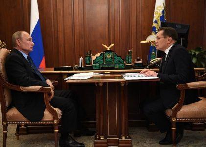 Президент РФ В.В. Путин провел рабочую встречу с главой Росатома А.Е. Лихачёвым