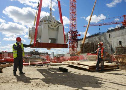 На энергоблоке № 1 Курской АЭС-2 начали установку технологического оборудования